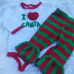 Baby Girl Christmas Outfit 3 Months Nursery Rhyme